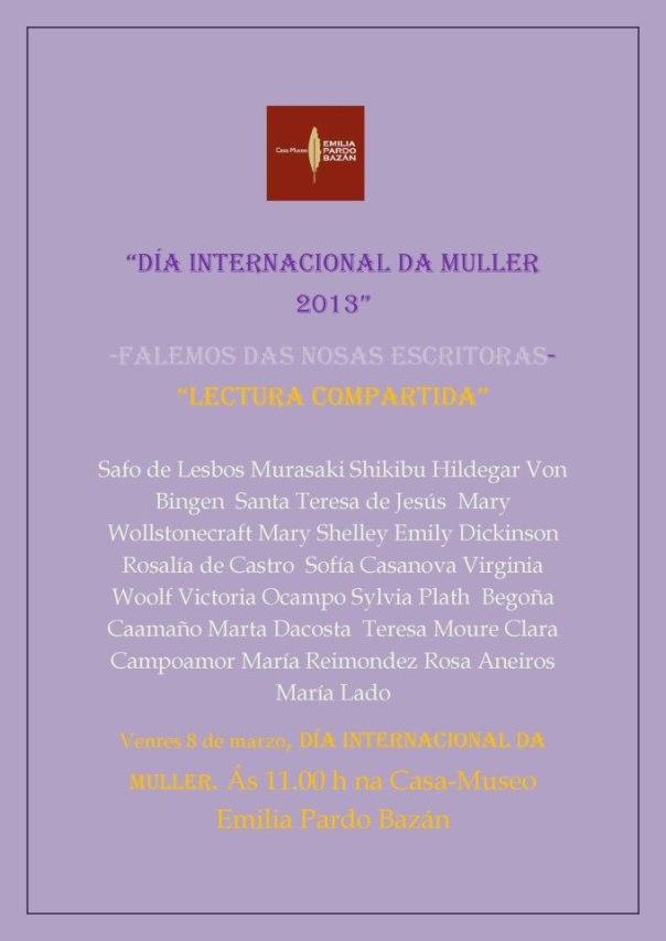 Lecturas compartidas no Dia Internacional da Muller na Casa Museo Emilia Pardo Bazan