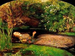Ofelia muerta de Millais