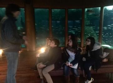 Xosé Alfeirán explicándonos los inicios de la Sala Nautilus