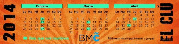 marcapaginas CLU calendario