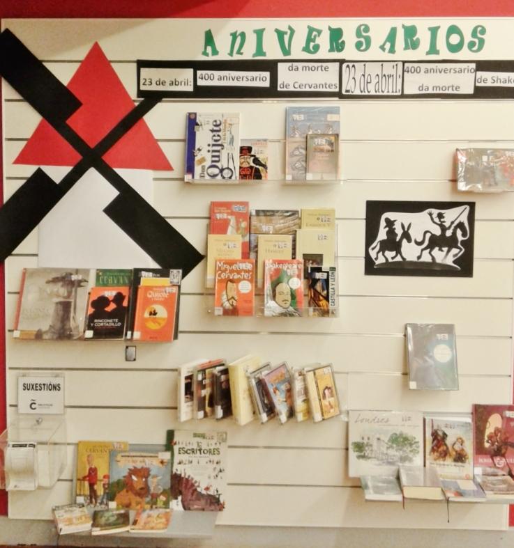Mostra polo aniversario de Cervantes-Shakespeare 2016 da Biblioteca Infantil e Xuvenil