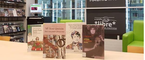 Mª José Queizán nas Bibliotecas Municipais da Coruña