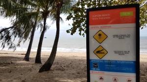 Avisos nas praias de Queensland