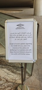 National Library of Qatar closed coronavirus